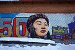 siberian tags on the walls in Irkutsk