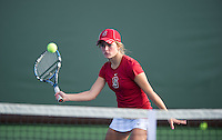 Elizabeth Ecker of the 2010 Stanford women's Tennis Team.