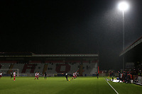 General view of the action during Stevenage vs Brighton & Hove Albion Under-21, Checkatrade Trophy Football at the Lamex Stadium on 7th November 2017