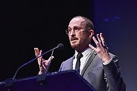 "NEW YORK CITY - MARCH 14: Darren Aronofsky attending National Geographic's ""One Strange Rock"" screening and Q&A at Alice Tully Hall at Lincoln Center on March 14, 2018 in New York City. (Photo by Anthony Behar/NatGeo/PictureGroup)"