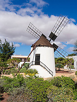 Spain, ESP, Canary Islands, Fuerteventura, Antigua, 2012Oct14: The windmill at the outdoor museum of Antigua.