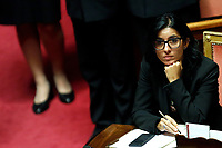 Minister of Public Admininstration Fabiana Dadone<br /> Rome September 10th 2019. Senate. Discussion and Trust vote at the new Government. <br /> Foto  Samantha Zucchi Insidefoto