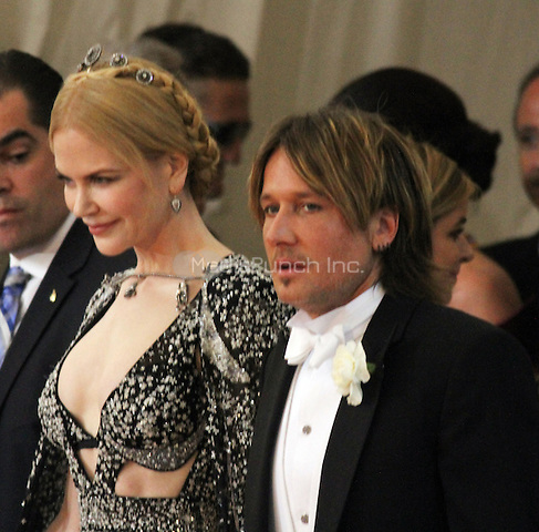 05 02 2016: Nicole Kidman, Keith Urban at Manus X Machina: Fashion In An Age of Technology at Metropolitan Museum of Art in New York. Credit:RWMediaPunch