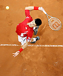 Sep 21, 2007 - Belgrade, Serbia - Serbia's Novak Djokovic serves the ball during his Davis Cup World Group play-off tennis match against Australia's Peter Luczak in Belgrade (credit image: © Pedja Milosavljevic/ZUMA Press)