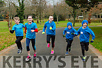 Enjoying the Tralee Junior Park Run on Sunday were Kevin Horgan, Daisy Nowak , Zack Walsh, Lilly Nowak and  Aaron Horgan from St. Brendans AC