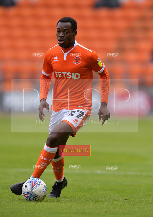 08/09/2018 Sky Bet League 1 Blackpool v Bradford City<br /> <br /> Marc Bola, Blackpool FC
