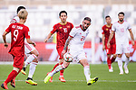 Seyed Ashkan Dejagah of Iran (R) fights for the ball with Do Hung Dung of Vietnam (L) during the AFC Asian Cup UAE 2019 Group D match between Vietnam (VIE) and I.R. Iran (IRN) at Al Nahyan Stadium on 12 January 2019 in Abu Dhabi, United Arab Emirates. Photo by Marcio Rodrigo Machado / Power Sport Images