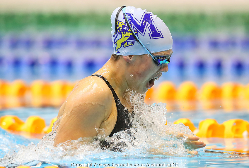 Brearna Crawford. Swimming New Zealand Aon National Age Group Championships, Wellington Regional Aquatic Centre, Wellington, New Zealand, Wednesday 17 April 2019. Photo: Simon Watts/www.bwmedia.co.nz
