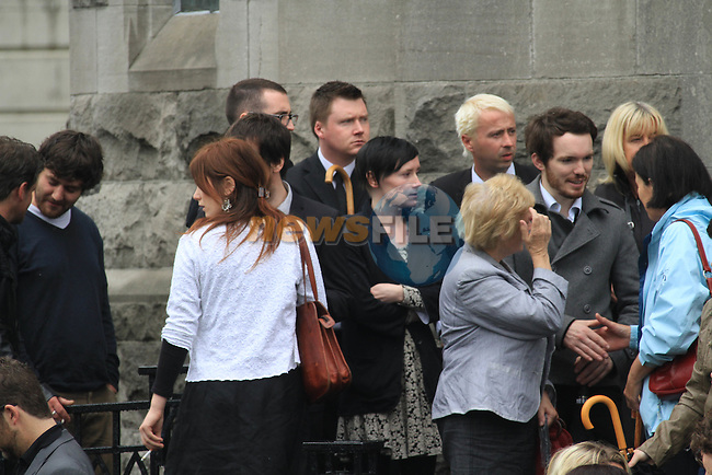 Members of Band, Ham Sandwich at the Funeral of Music Promoter Derek Nally at St. Mary's Church, Drogheda...Photo NEWSFILE.(Photo credit should read NEWSFILE)....This Picture has been sent you under the condtions enclosed by:.Newsfile Ltd..The Studio,.Millmount Abbey,.Drogheda,.Co Meath..Ireland..Tel: +353(0)41-9871240.Fax: +353(0)41-9871260.GSM: +353(0)86-2500958.email: pictures@newsfile.ie.www.newsfile.ie.FTP: 193.120.102.198.