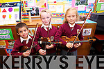 Pupils from the Moyderwell Mercy Primary School 'Colour My Strings Foundation and After-School Programme Nathan Sharma, Shane O'Sullivan and Victoria Golonic at a Concert in the School Hall on Thursday