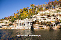 64745-00206 Pictured Rocks National Lakeshore in fall from Lake Superior near Munising MI