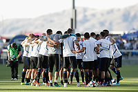 SAN JOSE, CA - AUGUST 03: San Jose Earthquakes huddle  prior to a Major League Soccer (MLS) match between the San Jose Earthquakes and the Columbus Crew on August 03, 2019 at Avaya Stadium in San Jose, California.