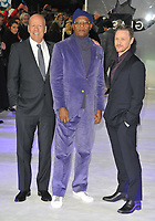 Bruce Willis, Samuel L Jackson and James McAvoy at the &quot;Glass&quot; UK film premiere, Curzon Mayfair, Curzon Street, London, England, UK, on Wednesday 09 January 2019.<br /> CAP/CAN<br /> &copy;CAN/Capital Pictures