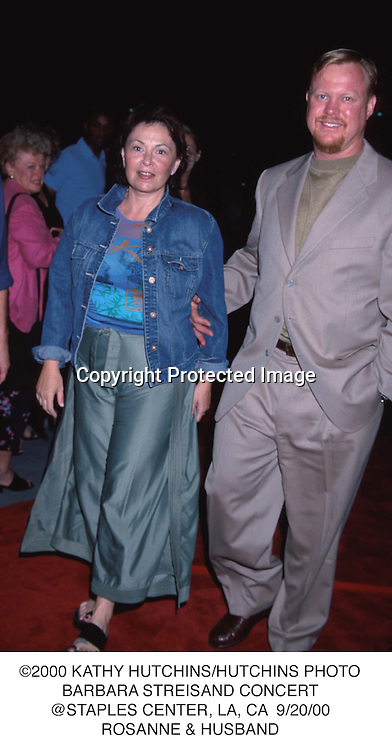 ©2000 KATHY HUTCHINS/HUTCHINS PHOTO.BARBARA STREISAND CONCERT.@STAPLES CENTER, LA, CA  9/20/00.ROSANNE & HUSBAND