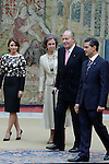 Spanish Royals Host a Reception For the President of Mexico and His Wife at the El Pardo Palace in Madrid. June 10, 2014. (ALTERPHOTOS/POOL)