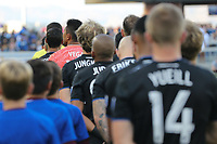 SAN JOSE, CA - AUGUST 24: Daniel Vega #17 of the San Jose Earthquakes prior to a Major League Soccer (MLS) match between the San Jose Earthquakes and the Vancouver Whitecaps FC  on August 24, 2019 at Avaya Stadium in San Jose, California.