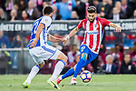 Yannick Ferreira Carrasco (r) of Atletico de Madrid battles for the ball with Raul Rodriguez Navas of Real Sociedad during their La Liga match between Atletico de Madrid vs Real Sociedad at the Vicente Calderon Stadium on 04 April 2017 in Madrid, Spain. Photo by Diego Gonzalez Souto / Power Sport Images