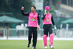 Johan Botha of Hung Hom JD Jaguars (L) celebrates with his team after taking the wicket during the Hong Kong T20 Blitz match between Hung Hom JD Jaguars and HKI United at Tin Kwong Road Recreation Ground on March 09, 2017 in Hong Kong, Hong Kong. Photo by Chris Wong / Power Sport Images