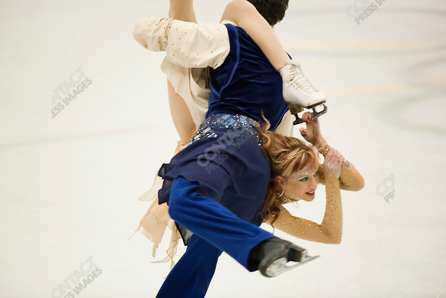 Ice dancing-free dance at the Palavela venue in Torino during the winter Olympics. Galit Chait and Sergei Sakhnovski of ISR.