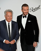Dustin Hoffman &amp; David Beckham at the 24th amfAR Gala Cannes at the Hotel du Cap-Eden-Roc, Antibes, France. 25 May 2017<br /> Picture: Paul Smith/Featureflash/SilverHub 0208 004 5359 sales@silverhubmedia.com
