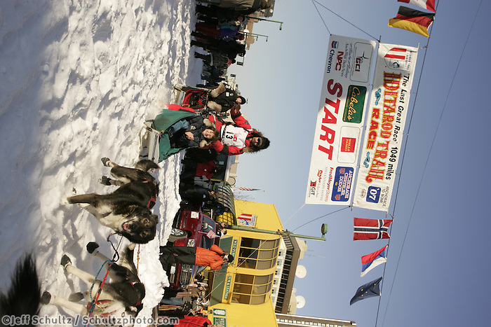 March 3, 2007   Lance Mackey during the Iditarod ceremonial start day in Anchorage