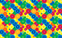 Abstract full frame pattern of multi coloured circles