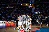 Real Madrid's players during Euroleague match at Barclaycard Center in Madrid. April 07, 2016. (ALTERPHOTOS/Borja B.Hojas) /NortePhoto