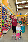Shana, Nadine and Belinda McLoughlin at the opening of the Dealz new store in Lakeland retail Park, Cavan.<br /> <br /> Picture Fran Caffrey /Newsfile