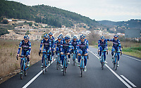 Team Wanty-Groupe Gobert at pre-season Training Camp around Alicante/Spain, january 2016<br /> <br /> Antoine Demoitié (BEL/Wanty-Groupe Gobert) on the far right