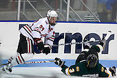 Tyler McNeely (NU - 94), Andrew Andricopoulos (St. Thomas - 3) - The Northeastern University Huskies defeated the St. Thomas Tommies 7-5 in their exhibition match on Saturday, October 3, 2009, at Matthews Arena in Boston, Massachusetts.