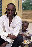 Gouré, Niger. A Fulani Father and Daughter.
