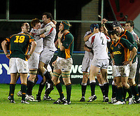 Photo: Richard Lane/Richard Lane Photography. England U20 v South Africa U20. Semi Final. 18/06/2008. England celebrate victory.