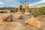 Grand Staircase-Escalante National Monument, UT: Rock formations at Devil's Garden