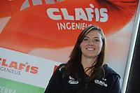 SCHAATSEN: HEERENVEEN: 23-09-2014, Perspresentatie Team Clafis, Heather Richardson, ©foto Martin de Jong