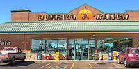"""The Buffalo Ranch, a truck stop built on the site of an old Route 66 tourist trap in Afton Oklahoma that once featured """"the world's only trained buffalo."""""""
