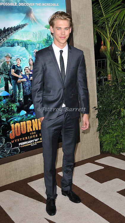 Austin Butler arriving to the premiere of Journey 2 The Mysterious Island, held at Chinese Theater in  Los Angeles, CA  February 2, 2012.