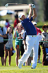 Dan Quinn hits a tee shot during practice rounds at the American Century Championship golf tournament at Edgewood Tahoe at Stateline, Nev., on Wednesday, July 18, 2012..Photo by Cathleen Allison