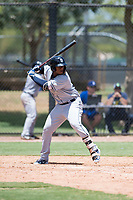 AZL Padres 2 first baseman Jason Pineda (39) at bat during an Arizona League game against the AZL Dodgers at Camelback Ranch on July 4, 2018 in Glendale, Arizona. The AZL Dodgers defeated the AZL Padres 2 9-8. (Zachary Lucy/Four Seam Images)