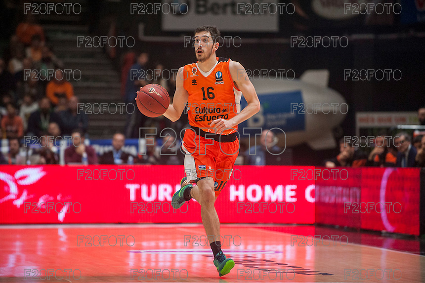 VALENCIA, SPAIN - December 2: Guillem Vives during EUROCUP match between Valencia Basket Club and Ratiopharm ULM at Fonteta Stadium on December 2, 2015