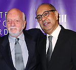Hal Prince and George C. Wolfe attends the 16th Annual Monte Cristo Award ceremony honoring George C. Wolfe presented by The Eugene O'Neill Theater Center at Edison Ballroom on May 9, 2016 in New York City.