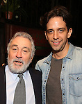 Robert De Niro and Nick Cordero during the Actors' Equity Gypsy Robe Ceremony honoring Jonathan Brody for  'A Bronx Tale'  at The Longacre on December 1, 2016 in New York City.
