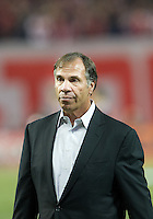 07 March 2012: LA Galaxy head coach Bruce Arena heads to the dressing room at the end of a CONCACAF Champions League game between the LA Galaxy and Toronto FC at the Rogers Centre in Toronto..The game ended in a 2-2 draw.