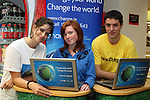 Odessa Stafford, Sarah Farrell and Neil Blake at the Climate Change Campaign in Tesco, Dundalk...Photo NEWSFILE/Jenny Matthews.(Photo credit should read Jenny Matthews/NEWSFILE)....This Picture has been sent you under the condtions enclosed by:.Newsfile Ltd..The Studio,.Millmount Abbey,.Drogheda,.Co Meath..Ireland..Tel: +353(0)41-9871240.Fax: +353(0)41-9871260.GSM: +353(0)86-2500958.email: pictures@newsfile.ie.www.newsfile.ie.FTP: 193.120.102.198.