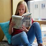 Client: Gravenhurst Public Library. Project: Visit Connect Discover. Model: Charlotte P. Image ref: Charlotte Crop