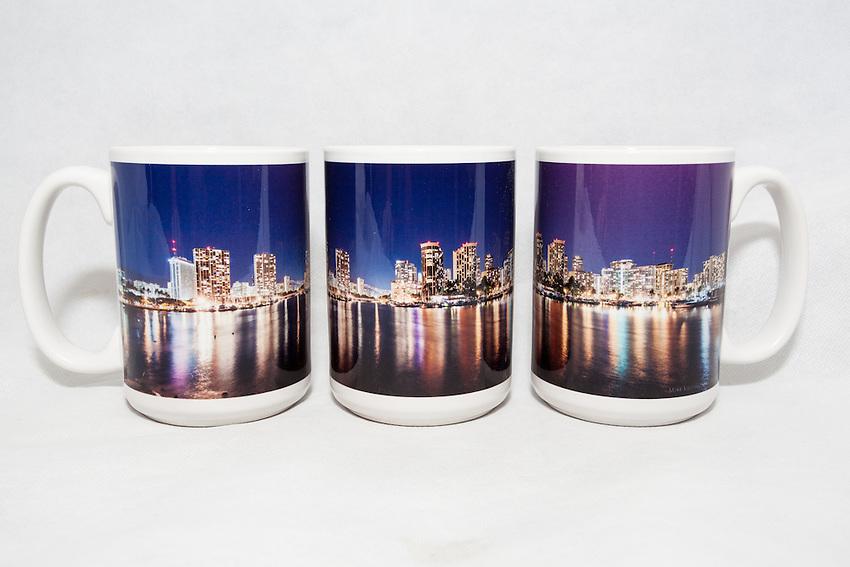 15 oz. Mug - Waikiki Night - $25 + $6 shipping.<br /> Contact me to order.
