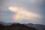Rainbow and clouds over the Gillis Range in central Nevada.