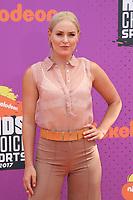 LOS ANGELES, CA July 13- Lindsey Vonn, At Nickelodeon Kids' Choice Sports Awards 2017 at The Pauley Pavilion, California on July 13, 2017. Credit: Faye Sadou/MediaPunch