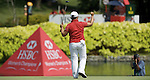SINGAPORE - MARCH 08:  Jiyai Shin of South Korea celebrates on the par four 18th hole during the final round of HSBC Women's Champions at the Tanah Merah Country Club on March 8, 2009 in Singapore. Photo by Victor Fraile / The Power of Sport Images