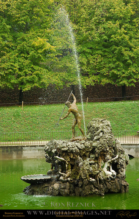 Fountain of Neptune Lorenzi Boboli Gardens