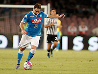 Calcio, Serie A: Napoli vs Juventus. Napoli, stadio San Paolo, 26 settembre 2015. <br /> Napoli&rsquo;s Gonzalo Higuain in action during the Italian Serie A football match between Napoli and Juventus at Naple's San Paolo stadium, 26 September 2015.<br /> UPDATE IMAGES PRESS/Isabella Bonotto<br /> <br /> *** ITALY AND GERMANY OUT ***